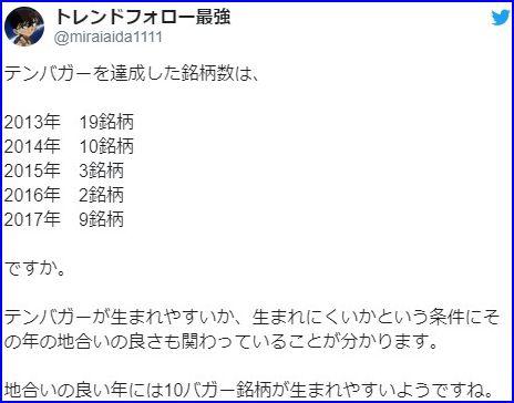 テンバガー(株価10倍)候補の条件は001